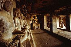 Buddha Statues Ellora Caves Aurangabad Hoilidays Maharashtra India